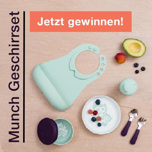 Gewinne Munch Produkte mit Stokke Kinder Geschirrset