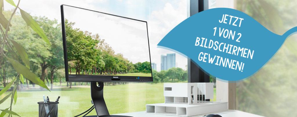philips nachhaltigkeit energiesparende Bildschirme gewinnspiel grüne monitore gewinnen